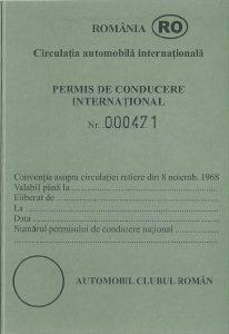 Formatul oficial al unui permis International de Conduere. Permisele internationale de conducere din plastic pot fi false