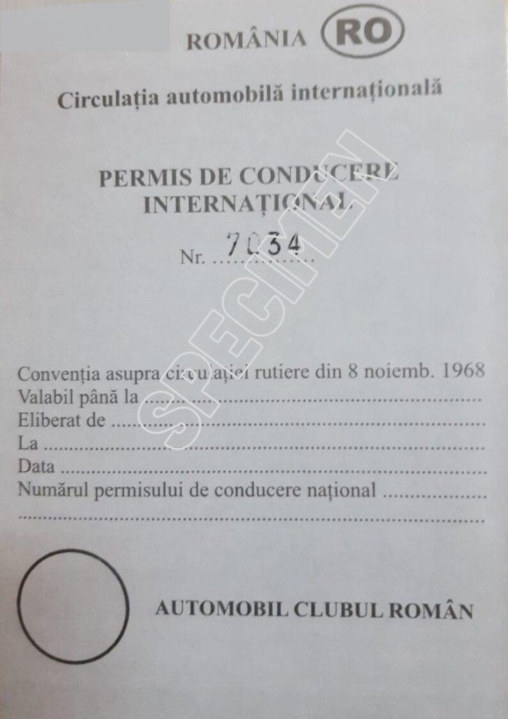 Permis international de conducere eliberat de ACR