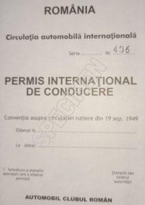 Permis International de Conducere eliberat de Automobil Clubul Roman model Geneva 1949. El se deosebeste de un permis international fals